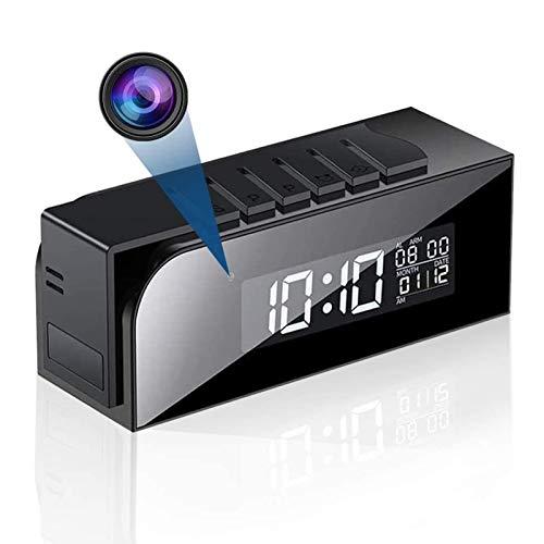 Cámara espía inalámbrica, despertador WiFi con microcámara espía cámara oculta Full HD...