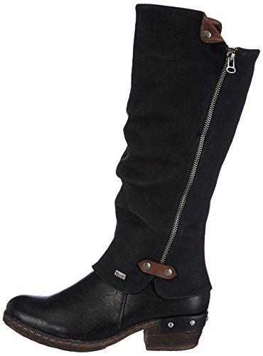 Rieker 93655 Damen Langschaft Stiefel, schwarz - 7
