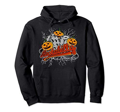 Rockabilly 1950s Música Rock Calabaza Disfraz de Halloween Sudadera con Capucha