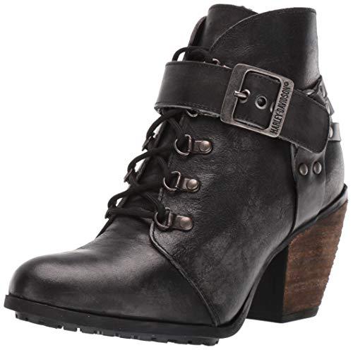HARLEY-DAVIDSON FOOTWEAR Women's Ashland Fashion Boot, Grey, 10 M US