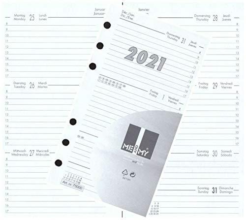 Kalendereinlage Kalender 2021 A6 Für Timer Zeitplaner 1 Woche 2 Seiten