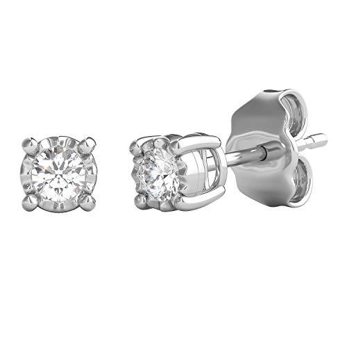 Helzberg Diamonds Sterling Silver 1/5 cttw Diamond (I-J Color, I3 Clarity)...