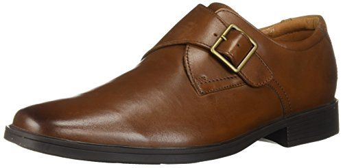 Clarks Men's Tilden Style Shoe, dark tan leather, 10.5 M US