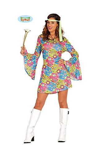 Guirca Costume Hippie Fille des Fleurs, Multicolore, 80638