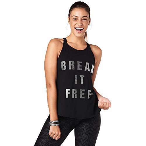 Zumba Workout Cross Rücken Sexy Fitness Tops Grafikdruck Open Back Tank Top Damen, Oh Black, M