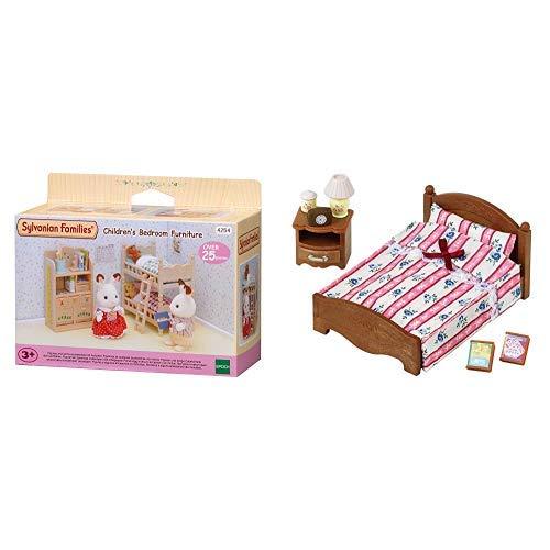 Sylvanian Families Children's Bedroom Furniture &  Families 5019 Doppelbett, Puppenbett, Mehrfarbig