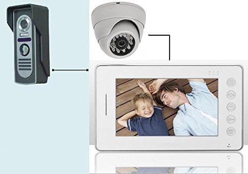 Videocitofono 7' colori FOTO + Dome Telecamera ultra sottile memoria (404)