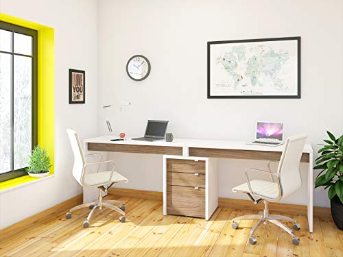 Nexera Liber-T 3 Piece Double Writing Desk...