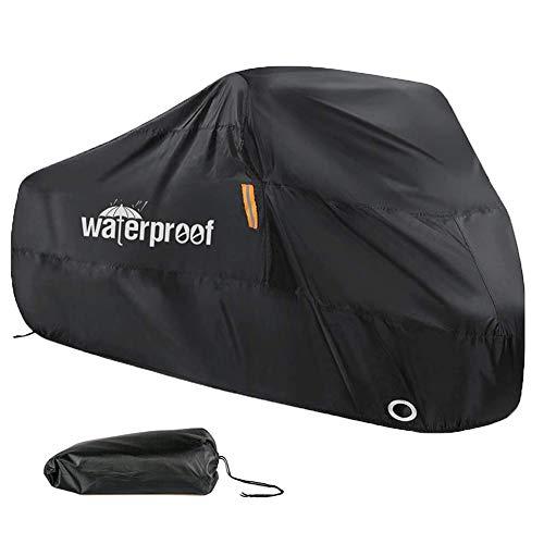 Fahrradabdeckung für 2 Fahrräder, Fahrradabdeckungen für die Außenaufbewahrung, 210T Nylon, wasserdicht, Anti-Staub, Regen, UV-Schutz für Mountainbike/Rennrad, mit Schlösserlöchern, 200 x 70 x 110 cm