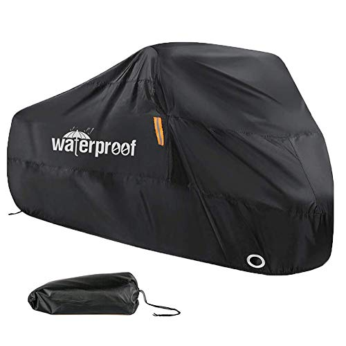 Bike Cover for 2 Bikes, Bike Covers for Outside Storage, 210T Nylon Waterproof Bicycle Cover Anti Dust Rain UV Protection for Mountain Bike/Road Bike with Lock-holes Storage Bag - 200*70*110cm