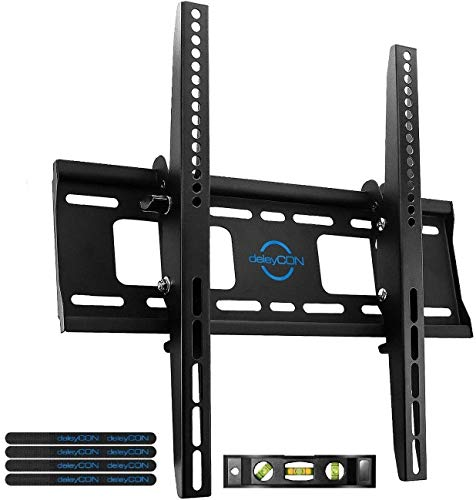 deleyCON Universal TV Soporte de Pared - 32' - 65' Pulgadas (81-165cm) - a 75Kg y VESA 400x400mm - Inclinación - Distancia a la Pared 56mm - TV LCD...