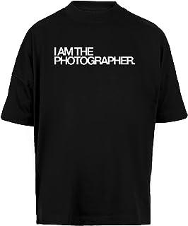 I Am The Photographer Unisex Camiseta Holgada Hombre Mujer Mangas Kortas - Unisex Baggy T-Shirt Black