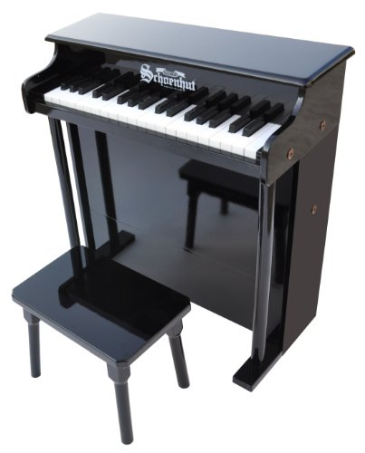 Schoenhut 6637B - 37 Key Trad/Deluxe Spinet with Bench (Black)