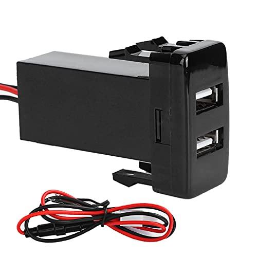 Cargador USB, Cargador de coche, Cargador de 2 puertos USB dual, Accesorio de coche de carga rápida para teléfono apto para Fortuner/Hilux/Tacoma