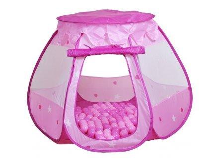 Knorrtoys - 55325 - Tente à balles Princesse Bella Rose 100 balles - 100x100x90 cm