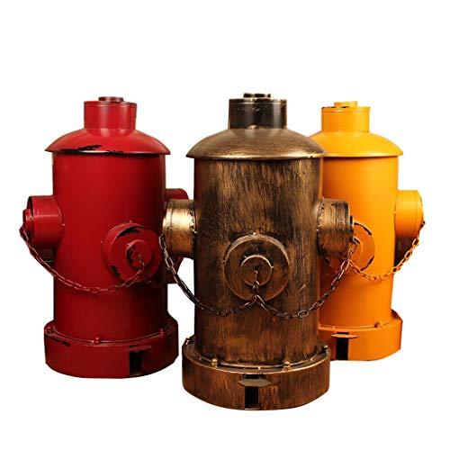 Cubos de Basura Tipo de Pedal Bote de Basura de Hierro Forjado Retro Papelera de Basura Industrial Fuego Bandeja de Incendio Bote de Basura Can Barra de Restaurante Decorativo (Color : Red)