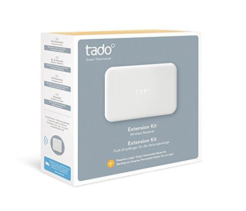 tado° Kit di Estensione (prodotto aggiuntivo)- Ricevitore wireless adatto a sistemi di riscaldamento privi di termostato ambiente o con termostato...