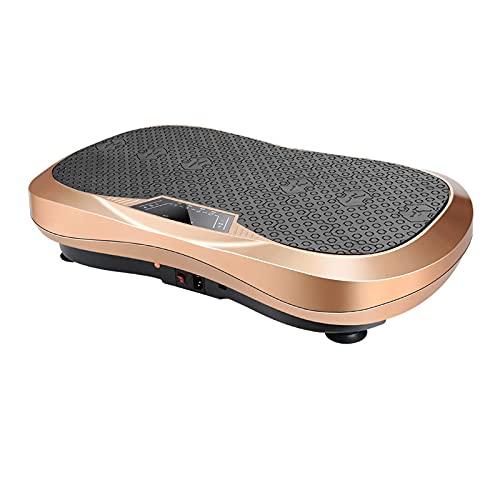 HT&PJ Plataforma vibratoria con Bluetooth, dispositivo de entrenamiento de cuerpo entero para fitness en casa, para relajación muscular, soporta hasta 160 kg (cobre)