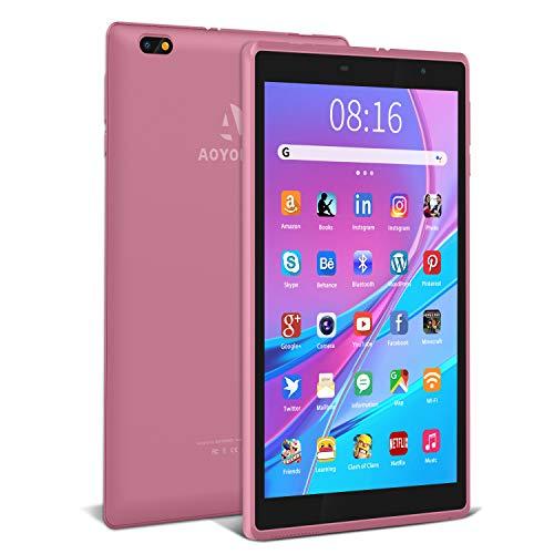 Tablet 8 pollici Android 10.0, 3 GB + 32 GB, Espanso 128GB, con Processore Quad-Core- Certificato Google GSM|5000 mAh| IPS 1280 * 800|Fotocamera da 2 MP + 5 MP| WiFi (Rosa)