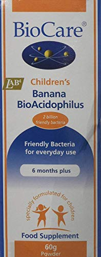 Biocare - Children's Banana Bio-Acidophilus - 60g (Pack of 2)