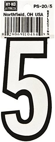 Reflective Number Decal, 5