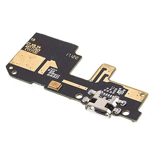 Compatible con Xiaomi Redmi 5 Plus 5,99 pulgadas, MEG7, MET7, MEE7, FLEX FLAT DOCK MICRO USB CIRCUITO MODULO conector para jack USB de carga Dock carga + micrófono conversación de llamada