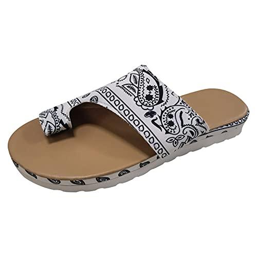 Todidafa - Pantuflas planas para mujer, estilo étnico