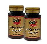 Carbón vegetal activado 300 mg. 60 capsulas (Pack 2 unid.)
