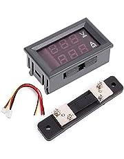 DollaTek 0.56 inch Blauw Rood Dual LED Display Mini Digitale Voltmeter Ampèremeter DC 100V 50A Paneel Amp Spanningsstroom Meter Tester