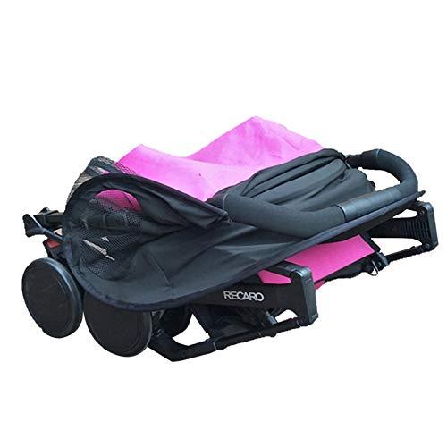 Waroomss - Parasol universal para cochecito de bebé, transpirable, luz solar UPF 50+ UV, protección para cochecito de bebé, color negro