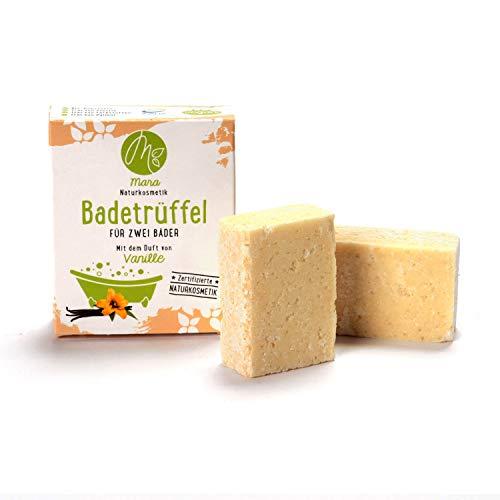 Mara - Mezcla de baño (vainilla, para dos baños, cosmética natural, vegana, ecológica, hecha a mano, 2 x 60 g)