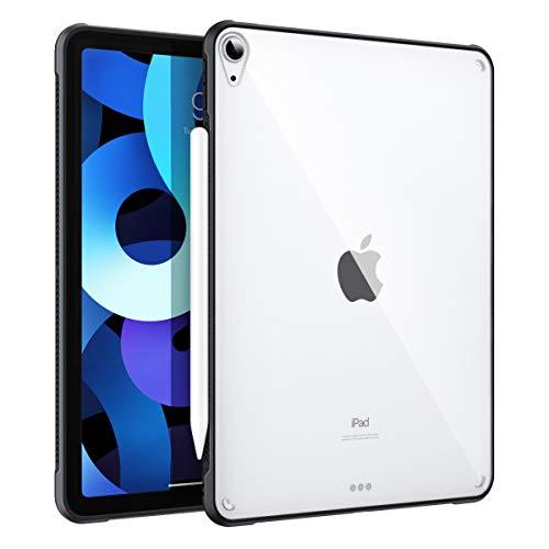 MoKo Hülle Kompatibel mit iPad Air 4. Generation 2020 Neu iPad 10.9 Zoll 2020, Stoßfest Acryl Bumper Kantenschutz Rückseite Weich TPU Schutzhülle Transparent Hülle, Schwarz