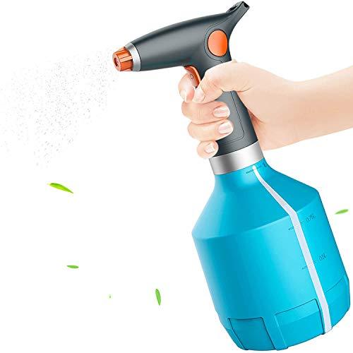 AiMok Regadera Eléctrica, 1L Botella de Spray para Plantas de Interior para Exteriores, Aerosol Eléctrica Boquilla Ajustable para Limpieza del Hogar, Alcohol, Jardinería (Azul)