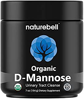USDA Organic D-Mannose Powder, 7 Ounce, Urinary Tract Cleanse & Bladder Support, Fast-Acting & Long-Lasting Cleanse, All Natural. No GMOs, Vegan Friendly and Made in USA