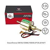 Pompe à carburant électrique essence solide métal 12V 1-2A 70L/H 4-7Psi Autly Pompe Carburant Electrique Essence Diesel Pompe électrique Universel