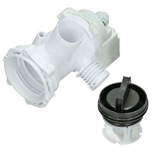 SPARES2GO 24W plaset tipo Bomba de desagüe y unidad de filtro para Indesit Lavadora Fitment list A