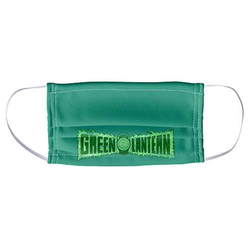 Green Lantern Flame Logo 1-Ply Reusable Face Mask Covering, Unisex