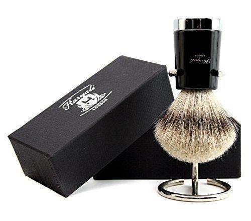 Männer Rasierpinsel Qualität Silber Spitze Haar Dachs Rasierpinsel + frei Rasierpinsel Halter/Ständer