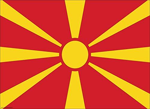 Tischsets | Platzsets - Nordmazedonien Flagge - 10 Stück - hochwertige Tischdekoration 44 x 32 cm für nordmazedonische Feierlichkeiten, Mottopartys & Fanabende