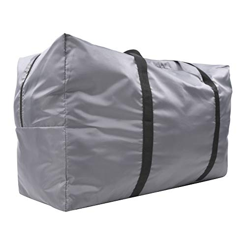 iFCOW Large Foldable Storage Carry Bag Sport Duffels Travel Bag Handbag Accessory for Canoeing Inflatable Boat Gray