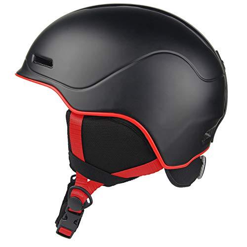 JFF Casco De Esquí para Ciclismo, Invierno, Nieve, Snowboard, Casco De Esquí, Compatible con Gafas De Esquí para Esquiar, Unisex, Ciclismo, Escalada,Negro