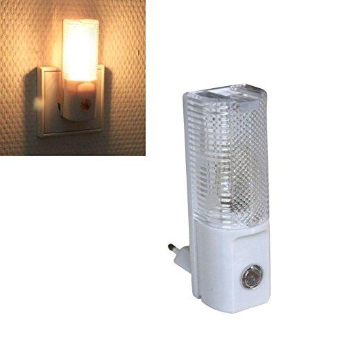 3 LED's Nachtlicht mit Dämmerungssensor   Nachtlampe   Nachtleuchte   Treppenlicht   Steckdosenlampe   Steckdosenlicht (sehr sparsam 0,5W)