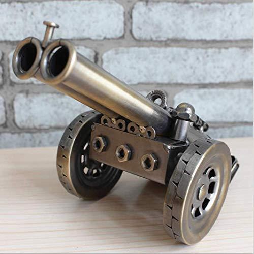 Antiguo Napoleón Hierro Crafts Pistola De Artillería Réplica Modelo Estatua Hecha A Mano Metal Cañón Miniatura Decoración Decoración