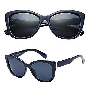61a1b3433cb1 $13 Polarspex Polarized Women's Oversized Square Jackie O Cat Eye Fashion  Sunglasses (Navy Blue | Polarized…