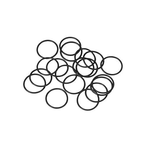 sourcing map O-Ringe aus Nitrilkautschuk 12 mm Außendurchmesser 10 mm Innendurchmesser 1 mm Breite, metrische -Dichtung, Packung mit 20 Stück