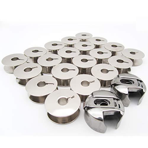 CKPSMS Marke-Set mit 20 Spulen Passt für Nähmaschinen, 9033, 9076NBL, Passt für PFAFF 138, 238, 438, 1222