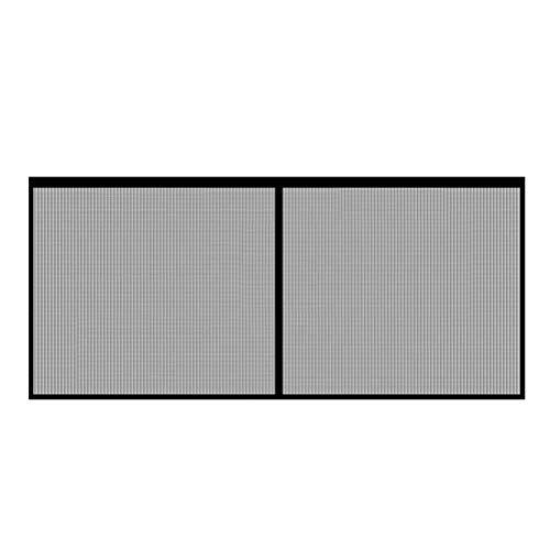 Hoonee Cortina Mosquitera Magnética, Cierre Automaticamente Evita Paso de Insectos, 400*200cm Puerta de Malla Magnética de Fibra de Vidrio para Garaje, Mosquitera Retráctil, gris