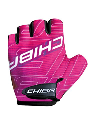 Chiba Kids Kinder Fahrrad Handschuhe kurz pink 2017: Größe: L (6)