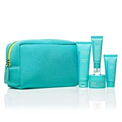 SKINCARE TO GO: Cleanse, exfoliate, hydrate, prime - this kit gives you our best sellers in travel-size, plus this TULA blue bag. Only $52! (A $18 savings on $70 value). KEEP YOUR SKIN GLOWING, RADIANT, AND SMOOTH: Whether you're packing for a trip o...
