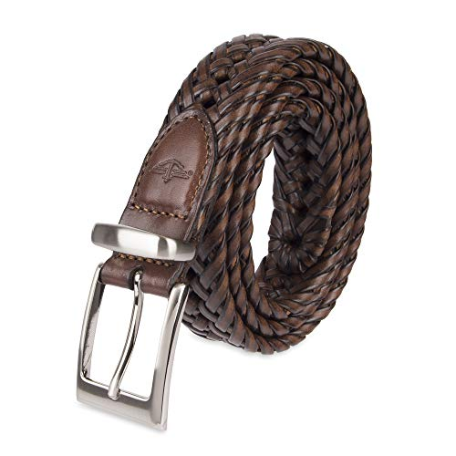 Dockers Men's Leather Braided Casual and Dress Belt,Tan Lace,42